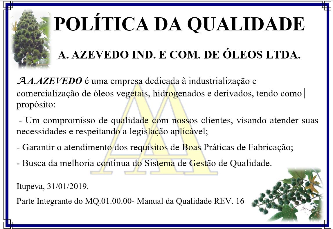 politica de qualidade